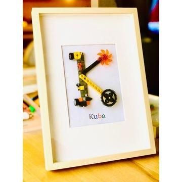 "LEGO - litera ""K"" z napisem KUBA_ super prezent"