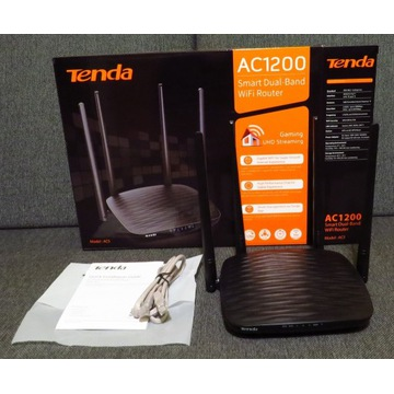 Router Tenda AC5, router WiFi, AC1200, 2,4/5GHz, 4