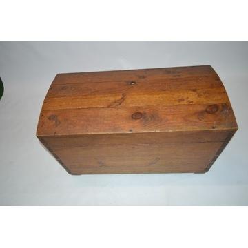 Skrzynia drewniana, kufer, antyk