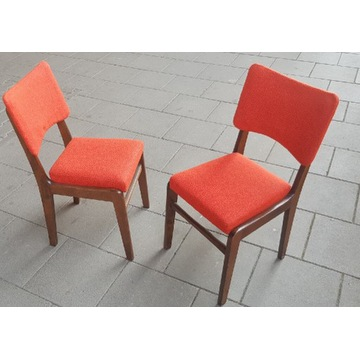 Krzesło PRL - Hałas model 296 czerwone - 2 szt.