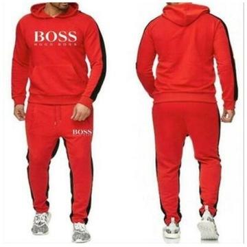 Hugo Boss dres męski bluza z kapturem +spodnie XXL