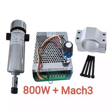 Wrzeciono CNC frezarka 800W 0.8kW Zasilacz z Mach3