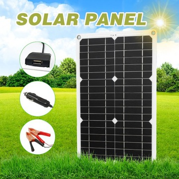 HIT! panel słoneczny podwójny port USA 12V panel