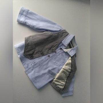 kamizelka, koszula + mucha HM , rozmiar 74