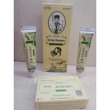 Zestaw ZUDAIFU SZAMPON mydło łuszczyca yiganerjing