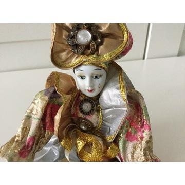 Lalka Wenecka Pierrot 21 cm Zginane Ręce i Nogi