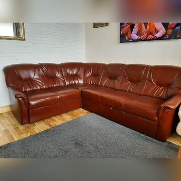 Narożnik Skórzany 260 cm  x 210 x 90 cm + 2 fotele