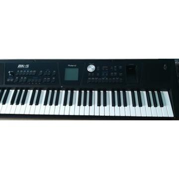 ROLAND BK-5 keyboard,statyw+pokrowiec + gitara
