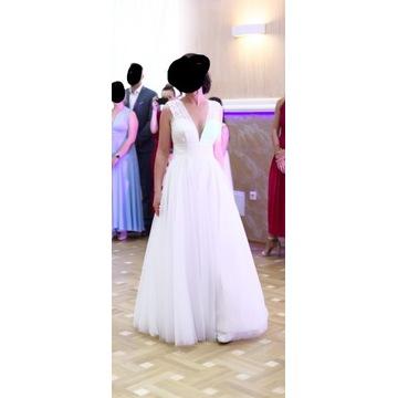 Suknia ślubna z salonu, używana, b. dobry stan