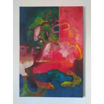 "Obraz abstrakcyjny ""Energy at home"""
