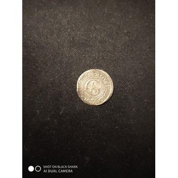 Szeląg srebrny Gustaw Adolf 1624 Ryga