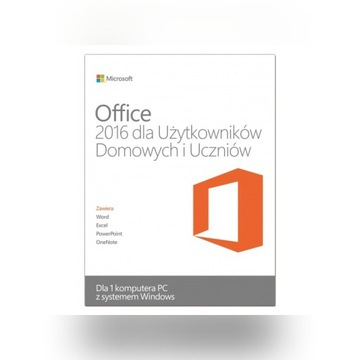 Microsoft Office 2016 Home&Student Klucz