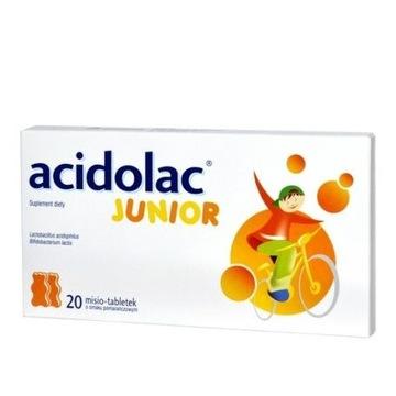 Acidolac Junior smak pomarańczowy 20 szt Probiotyk