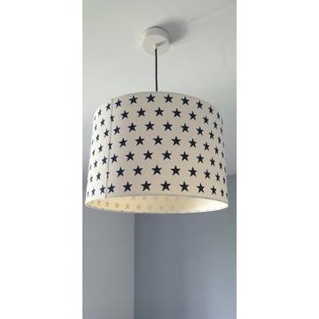 Lampa sufitowa zasłona firanka gwiazdki cotton bal