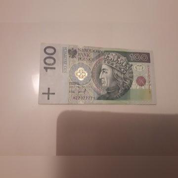 Unikalny nr seryjny banknotu 100zł