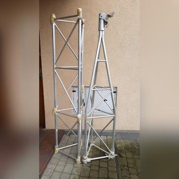 Aluminiowy maszt kratownicowy  - wysokość 4m