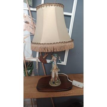 Lampa retro z figurką