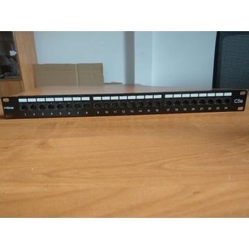 Patch Panel UTP kat.5e 24xRJ45 19''/1U Drakom