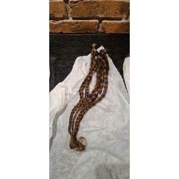 Włosy dziewicze (kolor #5) 45-50cm 77 gram