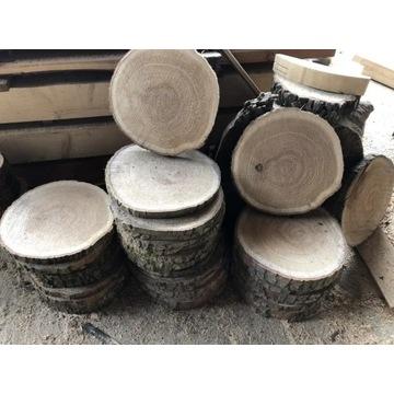 Plastry drewna krążki drewniane 35-42 cm DĄB