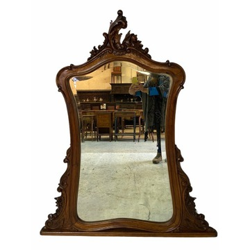 Przepiękne duże lustro Ludwik XV ROCAILLE Francja