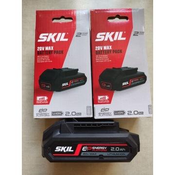 SKIL 2 Akumulatory 2,0Ah seria: 20V MAX 18V -NOWE