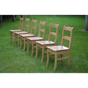 Krzesło dębowe drewniane, pomaluj je z rodziną!