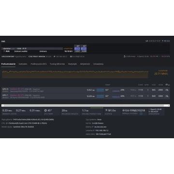 Koparka kryptowalut RVN Ravencoin 2x RX 470 4GB