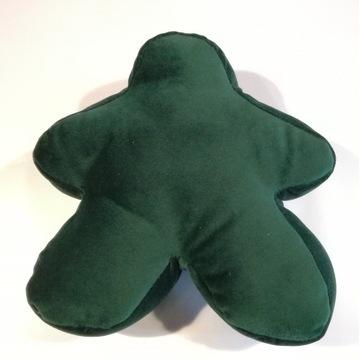 Mały ciemnozielony pluszowy meeple z Carcassonne