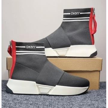 Buty Sneakersy DKNY - Marini Knit Black/White R.40