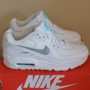 36 Nike Air Max 90 White / Neon CZ5868-100