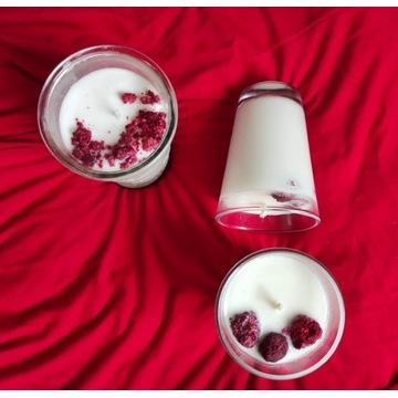 Świeczki sojowe handmade arbuz