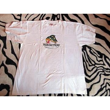 Koszulka ,tshirt - WĘDKARZ POLSKI logo okoń,r. xxl