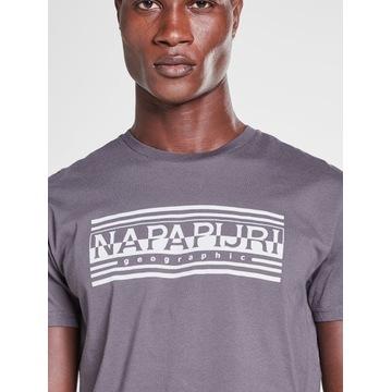 Koszulka T-shirt Napapijri SAHAIANO - gray r. L