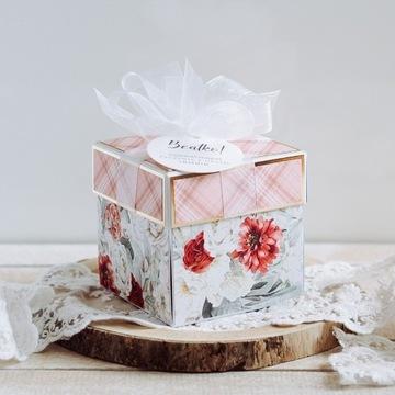 Exploding Box prezent na imieniny ręcznie robiony