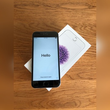 iPhone 6s+pancerny Spigen, szkło, nowa bateria