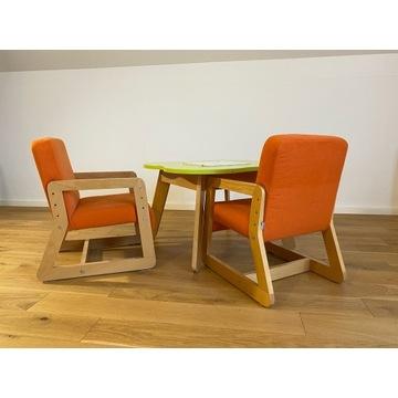 Rewelacyjne krzesła UpMe TIMOORE wraz ze stolikiem