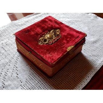 Przedwojenne, stare, pudełko na chusteczki