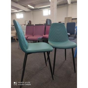 Krzesło TEO A Morski czarny stelaż