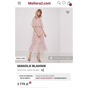 Moliera2 Manolo Blahnik 37 23 cm Prada Versace