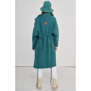 Płaszcz wiosenny Huggo morski od Blue Shadow