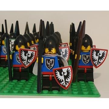 Lego castle tarcza custom Black Falcons - czerwony