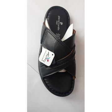 Sandały skórzane męskie rozmiar_40 Pierre Cardin P