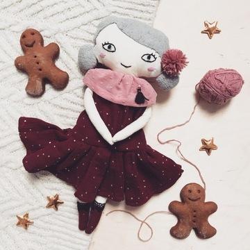 Nowa Lalka Handmade rękodzieło muślinowa sukienka