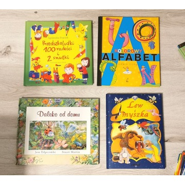 4 Książki dla dzieci * Przedszkolaki * trójwymiar