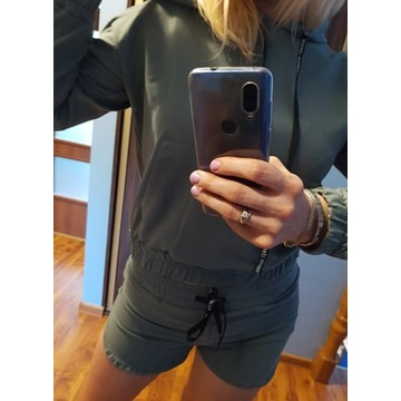 Dresik bluza+spodenki khaki