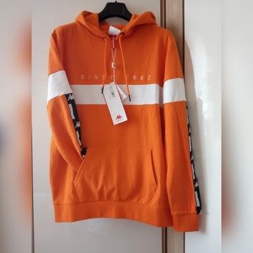 KAPPA męska bluza z kapturem, pomarańczowa TANIO