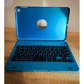 KLAWIATURA BLUETOOTH NIEBIESKA DO iPad mini4 etui