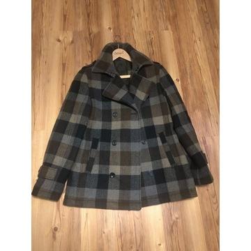 Płaszcz w kratę edc by ESPRIT wełna rozmiar L