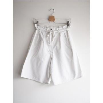 Białe szorty z wysokim stanem | 38 | M | vintage